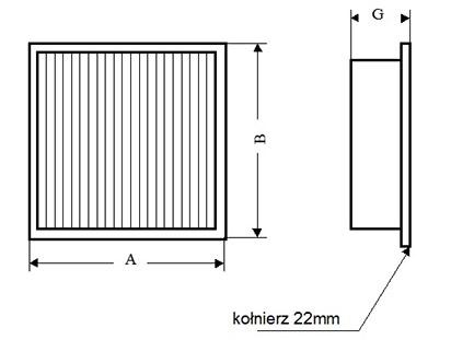 Filtr z kołnierzem z separatorami aluminiowymi